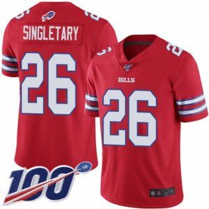 Bills Devin Singletary 100th Season Jersey (2)